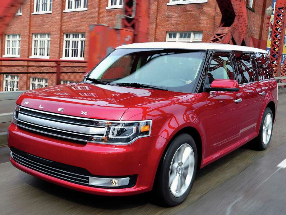 The Ford Flex continues to be very stylish family vehicle with seating for up to seven passengers and ultra-flexible cargo capability. For 2013, the distinctive full-size crossover gets a new front-end design for 2013, along with interior updates and six new wheel styles. In addition, the standard 285-horsepower 3.5-liter V-6 engine now produces more power than before. Photo: Ford Motor Co. / Copyright 2012