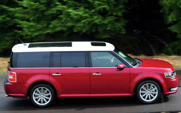 The Ford Flex continues to be very stylish family vehicle with seating for up to seven passengers and ultra-flexible cargo capability. For 2013, the distinctive full-size crossover gets a new front-end design for 2013, along with interior updates and six new wheel styles. In addition, the standard 285-horsepower 3.5-liter V-6 engine now produces more power than before. Photo: Ford, Ford Motor Co. / © 2012 Ford Motor Company
