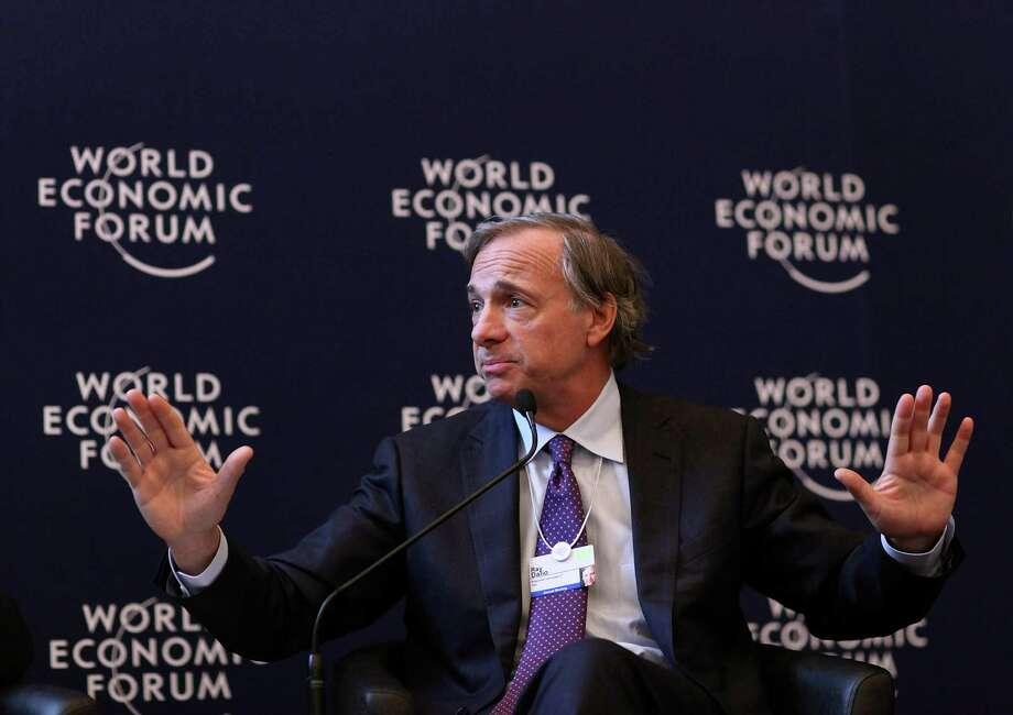 "Raymond ""Ray"" Dalio, president and founder of Bridgewater Associates LP, speaks during a press conference on day one of the World Economic Forum (WEF) in Davos, Switzerland, on Wednesday, Jan. 25, 2012. The 42nd annual meeting of the World Economic Forum will be attended by about 2,600 political, business and financial leaders at the five-day conference. Photographer: Chris Ratcliffe/Bloomberg *** Local Caption *** Ray Dalio Photo: Chris Ratcliffe, Bloomberg / © 2012 Bloomberg Finance LP, All Rights Reserved."