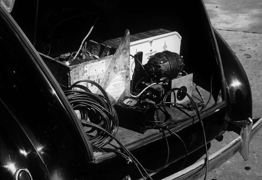 Alan Lomax's car trunk with recording equipment, 1930s. Photo: Library Of Congress / Library of Congress