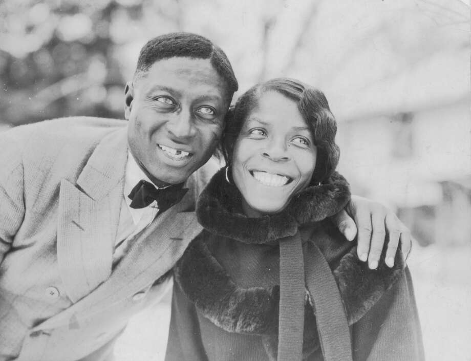 "Songster Huddie Ledbetter and his wife, Martha Promise. Ledbetter, known to fans as ""Leadbelly"", proved a treasure trove of African-American song. His violent past - he served time for murder - and his penchant for roistering, alarmed the elder Lomax. Photo: Library Of Congress, Prints And / Library of Congress, Prints and"