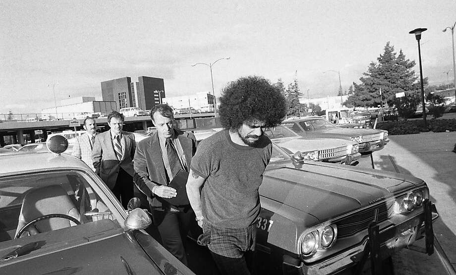 Tower of Power lead singer, Rick Stevens, is arrested on Feb. 19, 1976 for multiple murders committed  in Boulder Creek and San Jose. Photo: Jerry Telfer, The Chronicle