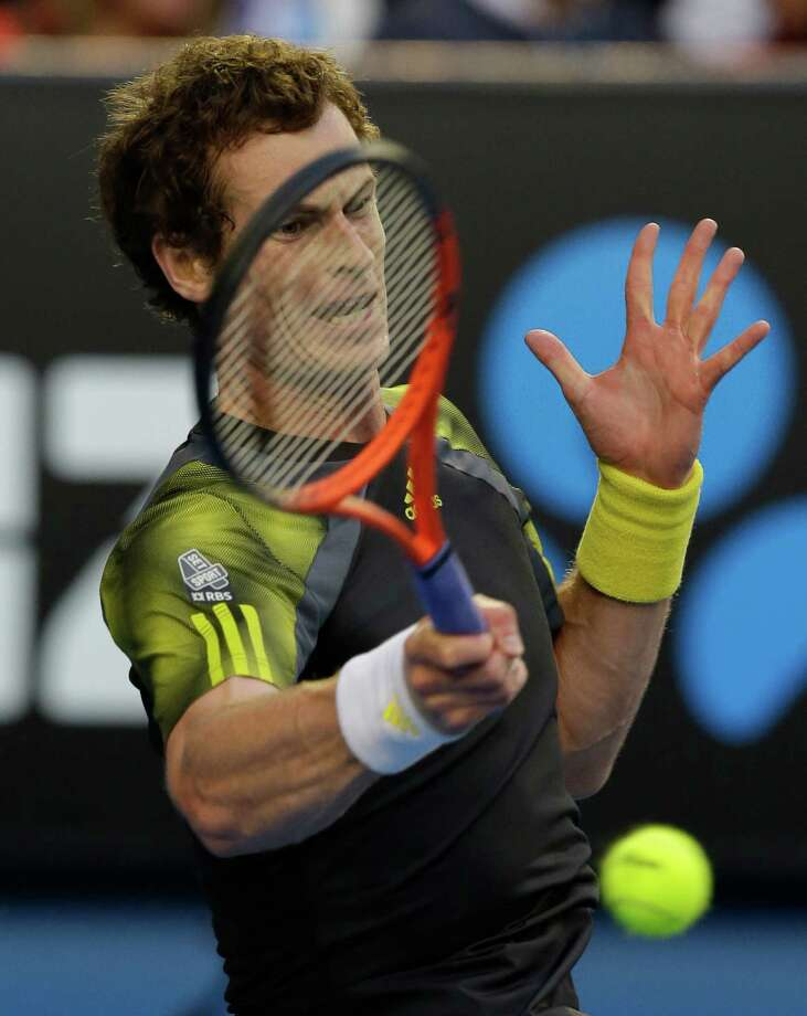 Andy Murray, above, beat Roger Federer to land an Australian Open final spot against Novak Djokovic. Photo: Andy Wong, STF / AP