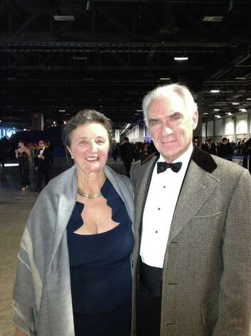 John and Vera Blankley, of Greenwich, arrive at the Inaugural Ball for President Barack Obama on Monday, Jan. 21, 2013, in Washington, D.C. Photo: Contributed Photo