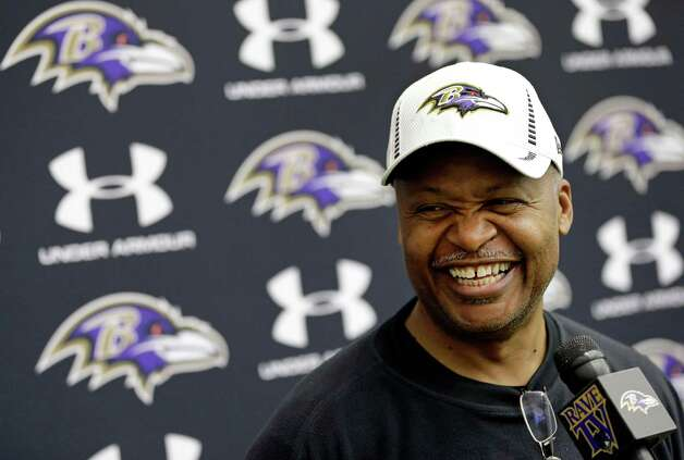 Baltimore Ravens offensive coordinator Jim Caldwell speaks at a news conference at the team's training facility in Owings Mills, Md., Friday, Jan. 25, 2013. The Ravens are scheduled to face the San Francisco 49ers in NFL football's Super Bowl XLVII in New Orleans on Sunday, Feb. 3. (AP Photo/Patrick Semansky) Photo: Patrick Semansky