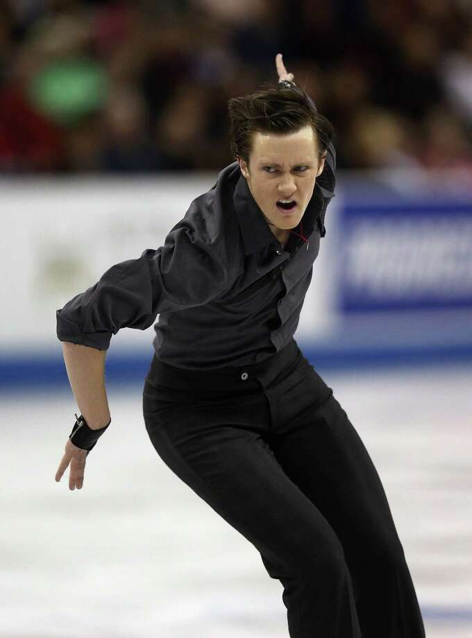 Jeremy Abbott works through his short program and leads the U.S. Championships. Photo: Jonathan Daniel, Staff / 2013 Getty Images