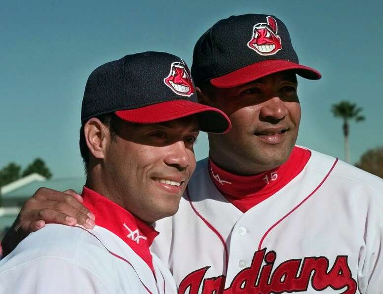 Roberto Alomar, left, and his older brother Sandy played together for the Cleveland Indians in 1999