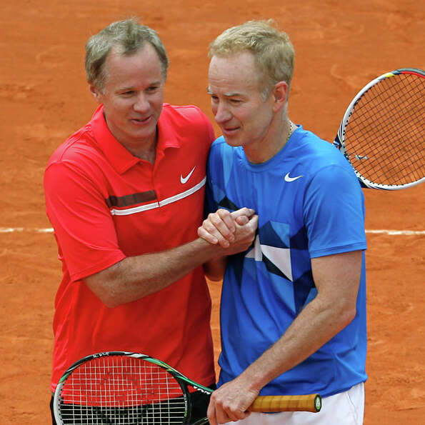 John McEnroe was the far better player than his younger brother Patrick, left. They met in one ATP T