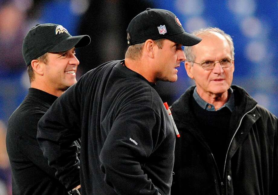 The Harbaughs will settle their sibling rivalry in the Super Bowl. Older brother John won the first matchup in 2011, 16-6. Will Jim get his revenge and buck the trend of devious older brothers always getting the upper hand? We'll see. Photo: Nick Wass, Associated Press / FR67404 AP