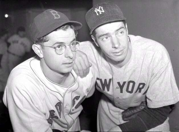 Dom, left, and Joe DiMaggio never met in the postseason, but in an epic 1949 series for the AL pennant, Joe's Yankees took two from Dom's Red Sox to earn a trip to the World Series. The pennant chase was chronicled in the David Halberstam book 'Summer of '49.'Upper hand: Older brother. Photo: AP / AP