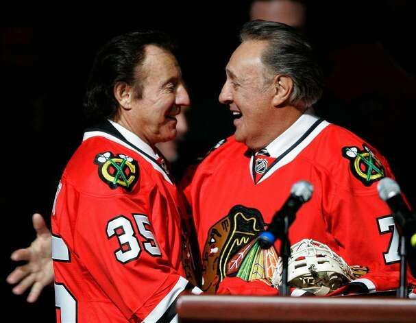 Hall of Fame hockey stars Tony, left, and Phil Esposito met three times in postseason series. Older brother Phil and his Bruins swept Tony's Blackhawks out of the playoffs in 1970 and topped them again in 1974. The Blackhawks finally solved the Bruins in the 1975 playoffs.Upper hand: Older brother.