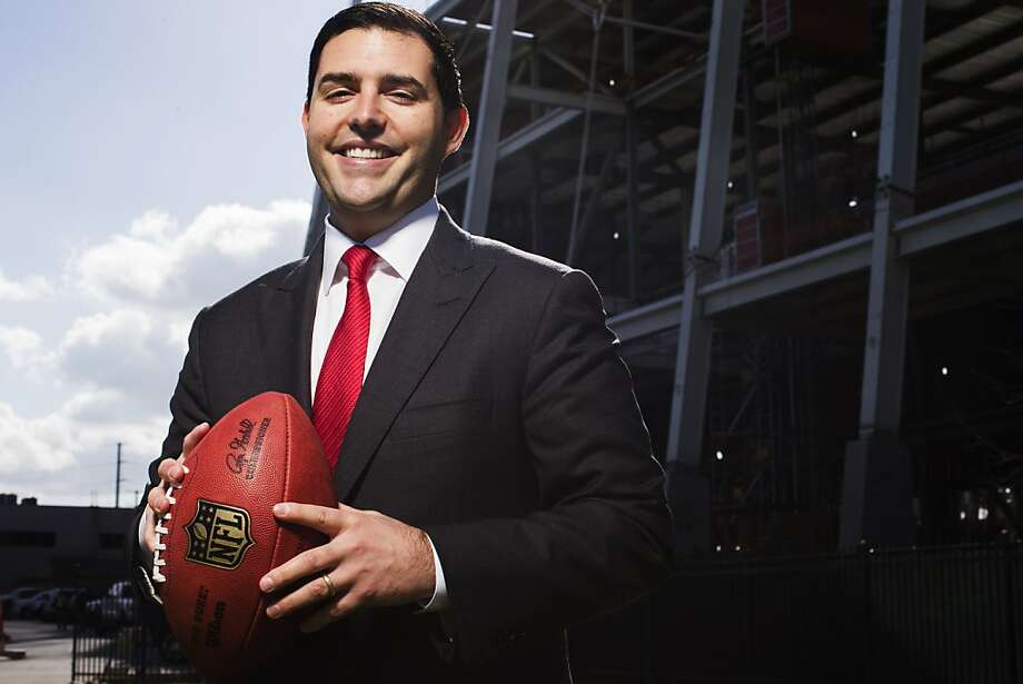 Jed York became president of the 49ers in December 2008. Photo: Stephen Lam, Special To The Chronicle