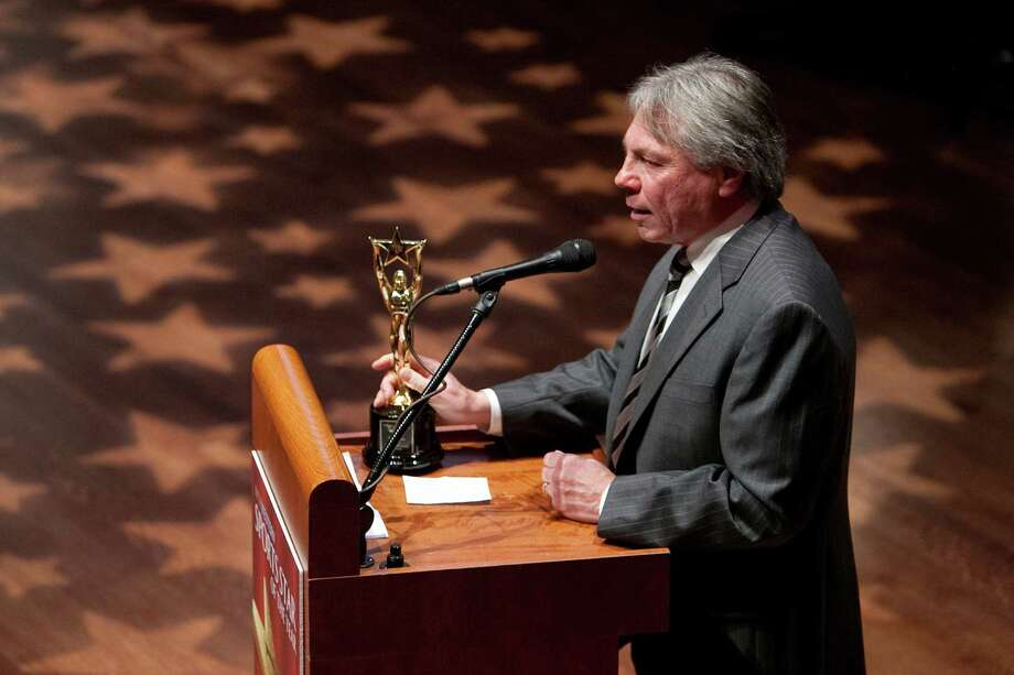Sportscaster Bob Rondeau accepts the Keith Jackson Award during the 78th annual Sports Star of the Year awards at Benaroya Hall on Friday, January 25, 2013. Photo: JOSHUA TRUJILLO, SEATTLEPI.COM / SEATTLEPI.COM