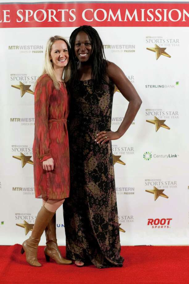 Kim Ellertson and pro soccer player Tina Ellertson pause on the red carpet during the 78th annual Sports Star of the Year awards at Benaroya Hall on Friday, January 25, 2013. Photo: JOSHUA TRUJILLO, SEATTLEPI.COM / SEATTLEPI.COM