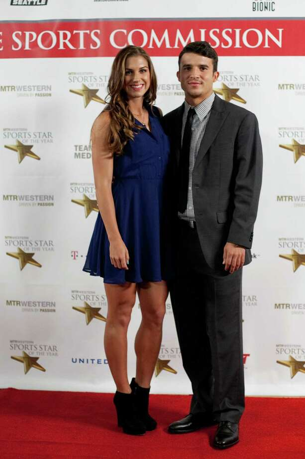 Soccer star Alex Morgan and Sounders player Servando Carrasco pause on the red carpet during the 78th annual Sports Star of the Year awards at Benaroya Hall on Friday, January 25, 2013. Photo: JOSHUA TRUJILLO, SEATTLEPI.COM / SEATTLEPI.COM