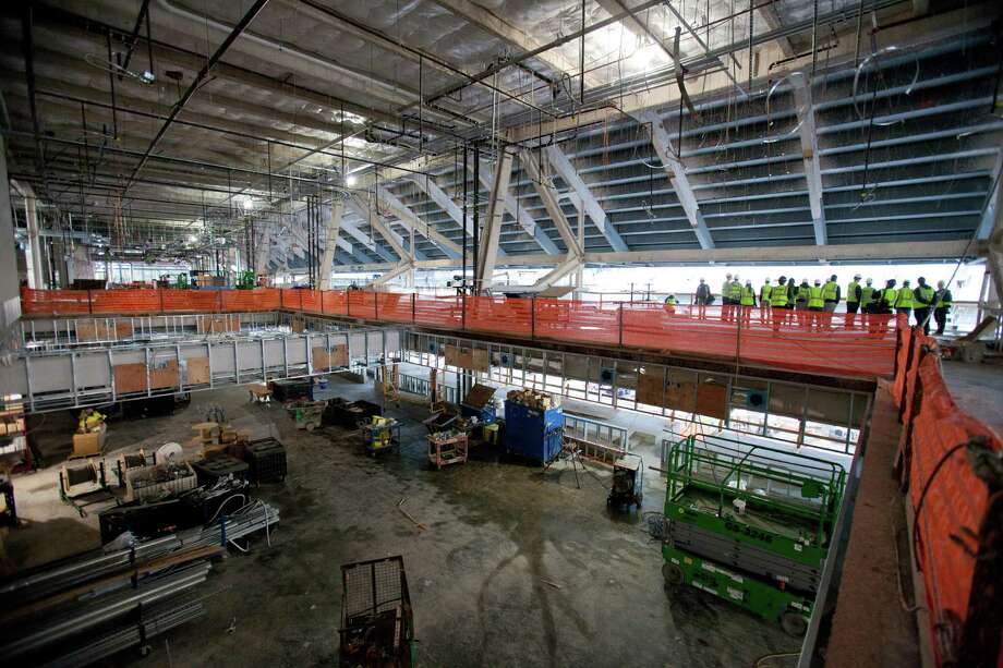 The south club and suite levels are shown during a tour of the Husky Stadium construction site on Friday, January 25, 2013. The stadium is undergoing a rebuild and is planned to open in time from the 2013 football season. Photo: JOSHUA TRUJILLO, SEATTLEPI.COM / SEATTLEPI.COM