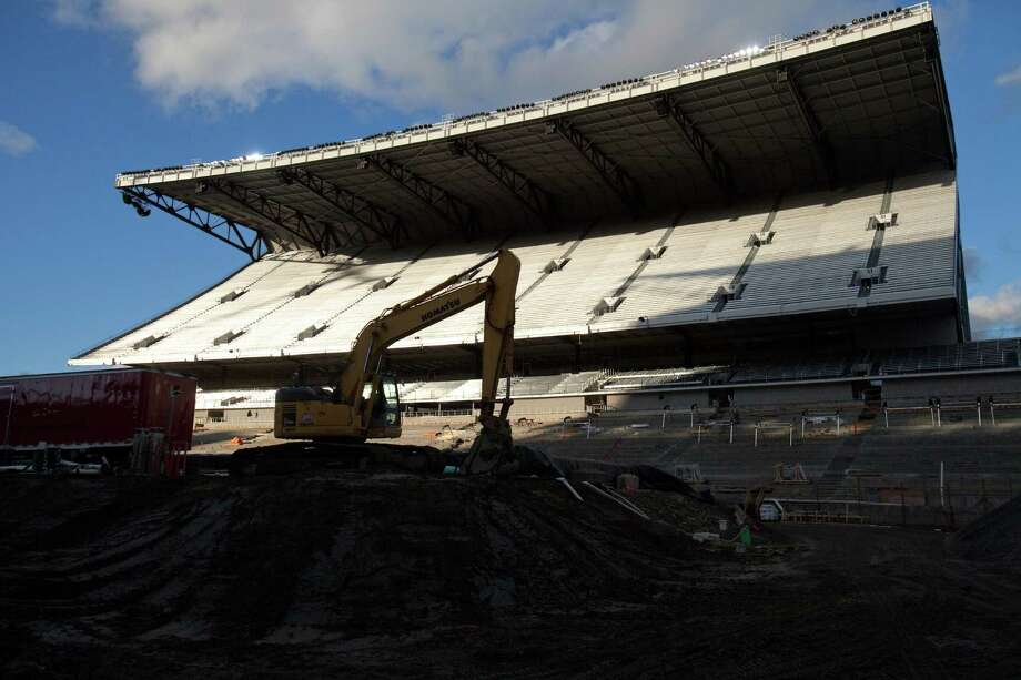 The north grandstand is shown during a tour of the Husky Stadium construction site on Friday, January 25, 2013. The stadium is undergoing a rebuild and is planned to open in time from the 2013 football season. Photo: JOSHUA TRUJILLO, SEATTLEPI.COM / SEATTLEPI.COM