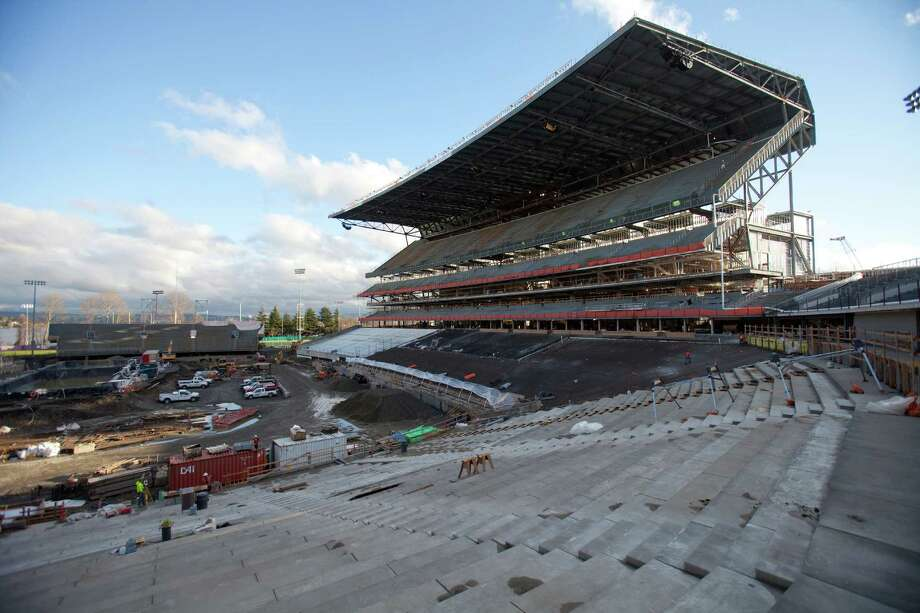 The south grandstand is shown during a tour of the Husky Stadium construction site on Friday, January 25, 2013. The stadium is undergoing a rebuild and is planned to open in time from the 2013 football season. Photo: JOSHUA TRUJILLO, SEATTLEPI.COM / SEATTLEPI.COM