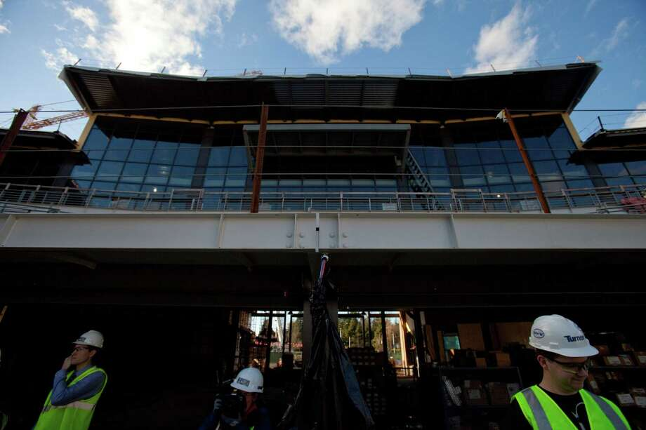 Football offices are shown above the west seating area during a tour of the Husky Stadium construction site on Friday, January 25, 2013. The stadium is undergoing a rebuild and is planned to open in time from the 2013 football season. Photo: JOSHUA TRUJILLO, SEATTLEPI.COM / SEATTLEPI.COM