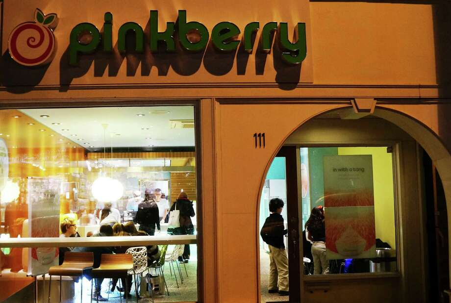 The Pinkberry frozen-yogurt shop opened Friday afternoon in a downtown space at 111 Post Road East.  WESTPORT NEWS, CT 1/25/13 Photo: Paul Schott / Westport News