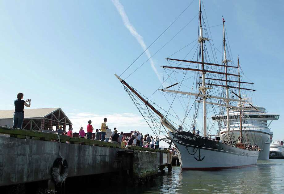 The U.S. Coast Guard had yanked the sailing rights of the 1877 barque following an inspection in January 2011 that found the iron plates on its hull were nearly eaten through in places. Photo: James Nielsen, Chronicle / © Houston Chronicle 2013