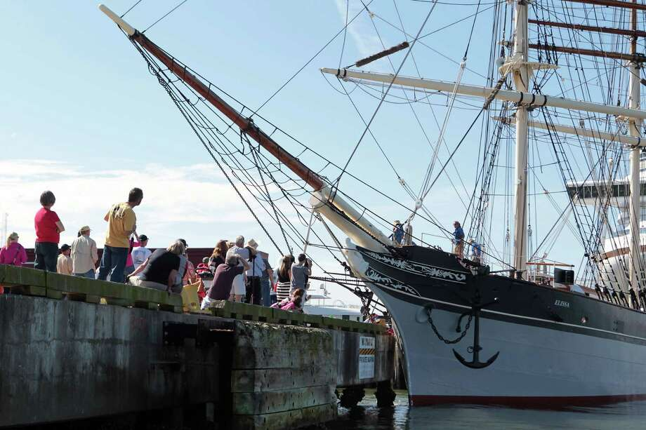 The Elissa is believed to be the first seaworthy historical vessel to undergo laser scanning for its repairs. Photo: James Nielsen, Chronicle / © Houston Chronicle 2013