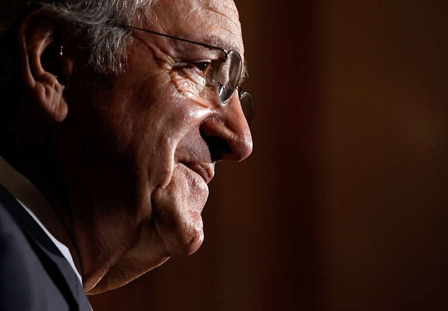 "(FILES) Photo dated May 8, 2012 shows US Democratic Senator from Iowa Tom Harkin at a news conference at the US Capitol in Washington. The fifth-term senator aid on January 25, 2013 that he is not seeking re-election next year, setting the stage for a key mid-term election that could help Republicans retake the Senate.  The veteran lawmaker, who expanded the rights of the disabled and fought for health and education reform, said that after 40 years in Congress, ""I just feel it's somebody else's turn.""       AFP PHOTO/Chip Somodevilla/Getty Images/FILES        ++FOR NEWSPAPERS, INTERNET, TELCOS & TELEVISION USE ONLY++CHIP SOMODEVILLA/AFP/Getty Images Photo: Chip Somodevilla, AFP/Getty Images"