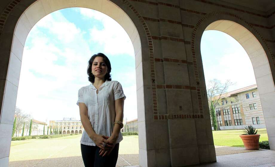 Ludmila Maia, a Brazilian student in the new program, will receive degrees from Rice University and Universidade Estadual de Campinas in Brazil. Photo: Karen Warren, Staff / © 2013 Houston Chronicle