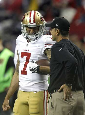 Jim Harbaugh decided it was Colin Kaepernick's time, and not surprisingly the coach was right. Photo: Brant Ward, The Chronicle