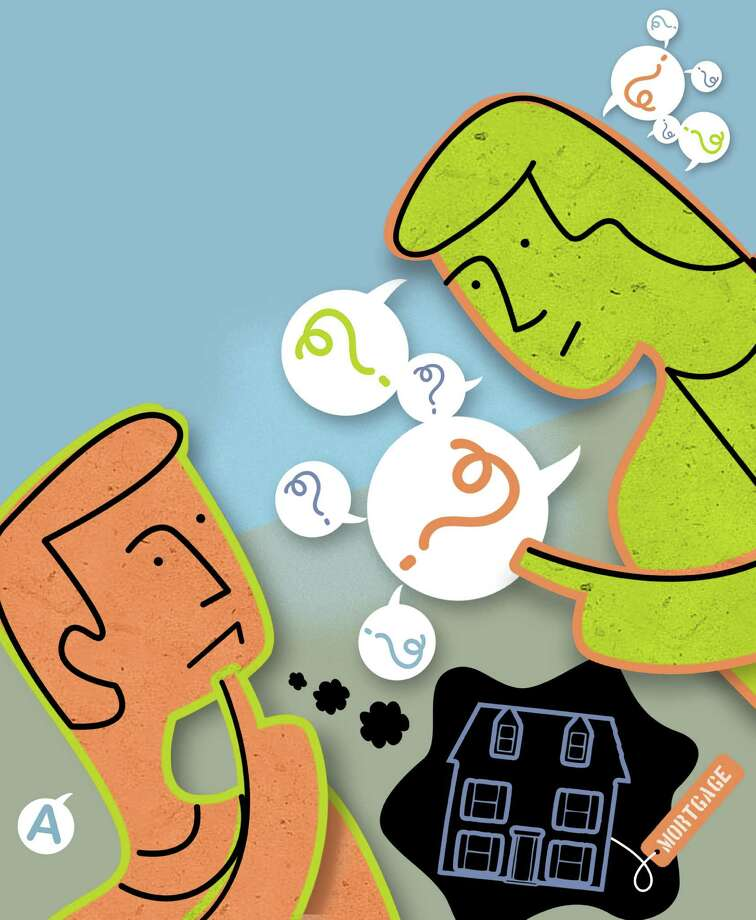 300 dpi Rick Nease illustration of two people wondering about getting a mortgage. Detroit Free Press 2011krtnational national; krt; krtcampus campus; mctillustration; 04000000; 04006018; 04008022; FIN; krtbusiness business; krtfinancialservice financial services; krtintlbusiness; krtmacroecon macroeconomics macro economics; krtnamer north america; krtpersonalfinance personal finance; krtusbusiness; mortgage; u.s. us united states; de contributed nease; rules; 2011; krt2011 Photo: Nease / © MCT 2011