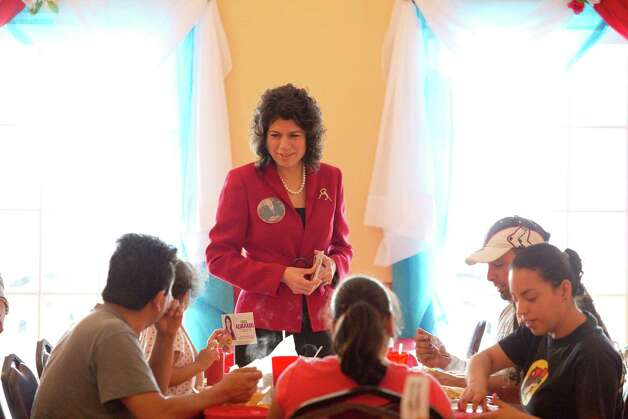 State Rep. Carol Alvarado campaigns to take over the former state senate district 6 seat of Mario Gallegos, Jan. 26, 2013 in Houston, TX. Photo: Eric Kayne, For The Chronicle / © 2013 Eric Kayne