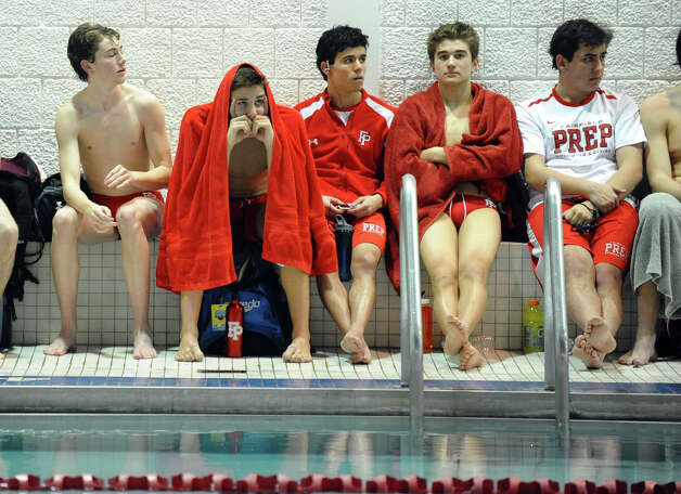 Boys swimming action between Fairfield Prep and Greenwich at Fairfield University in Fairfield, Conn. on Saturday January 26, 2013. Photo: Christian Abraham / Connecticut Post