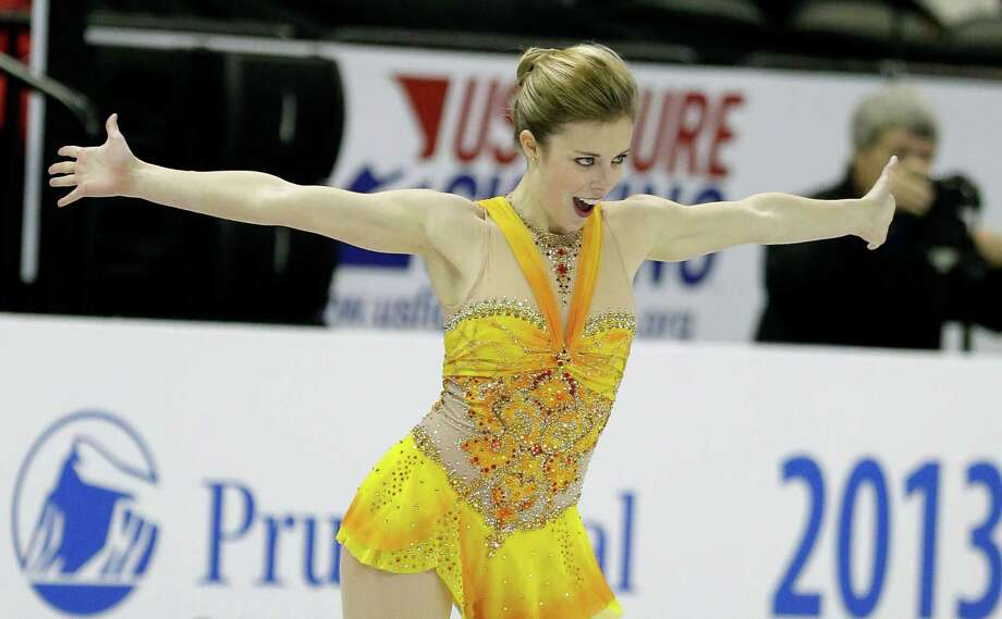 Ashley Wagner overcame two falls in her free skate to win her second consecutive U.S. national crown. Photo: Charlie Neibergall, STF / AP