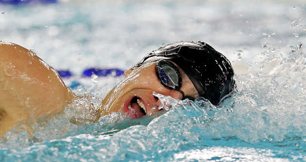 Clark's Joseph Jaime competes in the men 200-yard freestyle during the UIL District 27-5A Swimming and Diving Championships Saturday Jan. 26, 2013 at the George Block Aquatic Center. Jaime finished first with a time of 1:41.24. Photo: Edward A. Ornelas, Express-News / © 2013 San Antonio Express-News