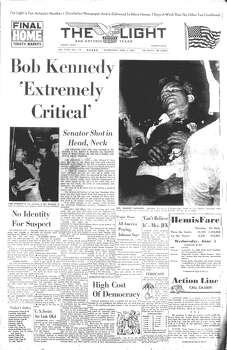 WEDNESDAY, JUNE 5, 1968: Sen. Robert F. Kennedy is shot by Sirhan Sirhan. He dies the next day. Photo: San Antonio Light Archives