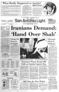 MONDAY, NOV. 5, 1979: Dozens of Americans are taken hostage at the U.S. Embassy in Iran. They would be held for 444 days, finally released when Ronald Reagan is inaugurated president in 1981. Photo: San Antonio Light Archives