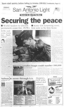 FRIDAY, MARCH 1, 1991: A cease fire in the Gulf War is declared. Photo: San Antonio Light Archives