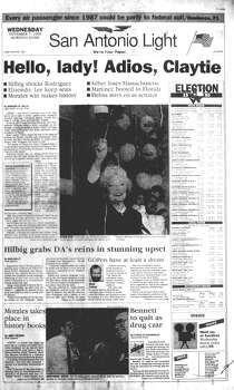 WEDNESDAY, NOV. 6, 1990: Ann Richards is elected governor of Texas, the first woman to carry the title in her own right. Photo: San Antonio Light Archives