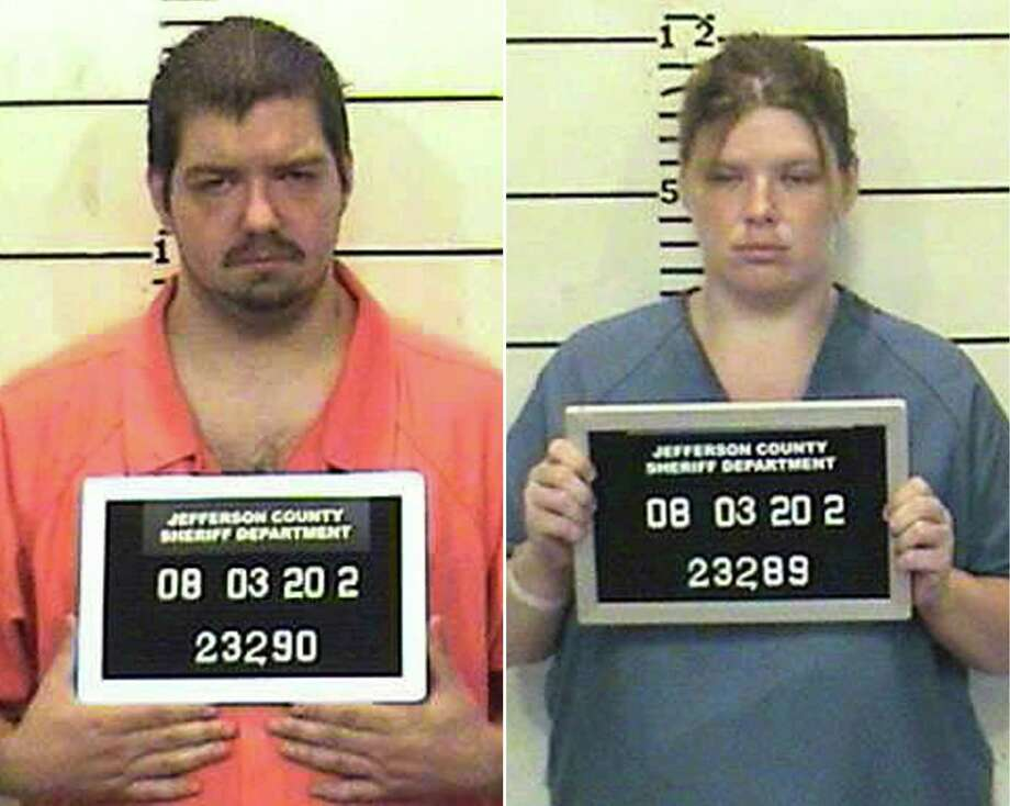 This combo made from undated photos released by the Jefferson County Sheriff's Department shows James Taylor, left, and his wife Samantha. The couple on Tuesday each pleaded guilty to two counts of child endangerment and one count of unlawful restraint after punishing their three children by forcing them into plastic storage boxes sealed with duct tape and only a square cut in the top for air. Photo: AP