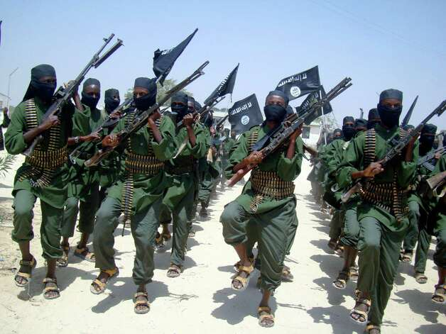 Twitter suspended the account used by the Somali militants, a group of which are shown here in 2011, on Friday after the insurgents used the micro-blogging site to post a hostage video and death threat. Photo: AP