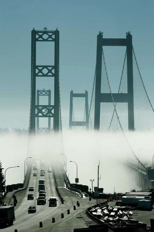 As state and local governments across the nation deal with the aftermath of severe budget cuts prompted by the Great Recession, a Washington state lawmaker has come up with a plan to increase revenue without raising taxes: sell naming rights to any publicly owned facility, such as the Tacoma Narrows Bridge shown here in 2007. Republican state Rep. Jan Angel is particularly interested in raising cash by selling the naming rights to the Tacoma Narrows Bridge. The state owes more than $45 million a year in debt payments on the span. Photo: AP