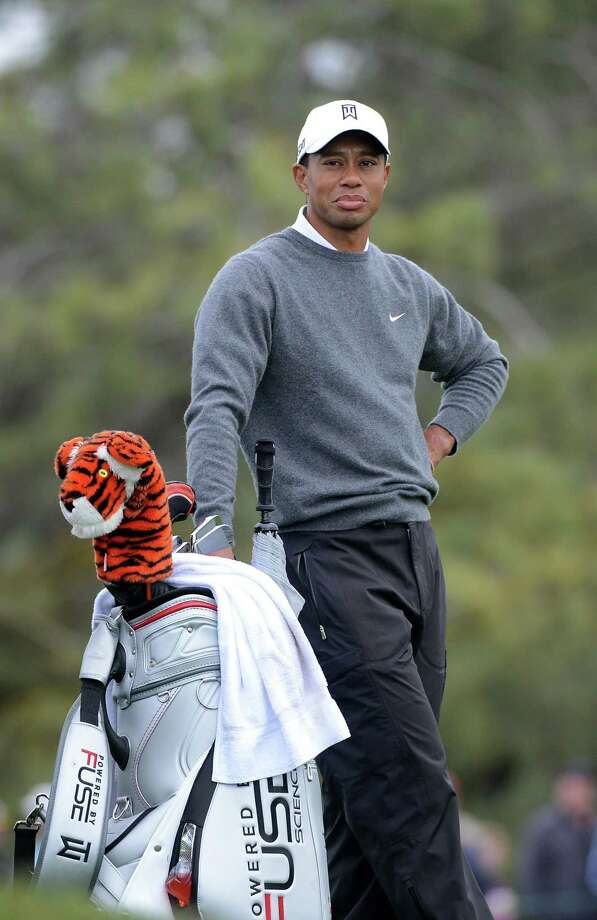 Tiger Woods looks on the 5th fairway during the Third Round at the Farmers Insurance Open at Torrey Pines South Golf Course on January 27, 2013 in La Jolla, California. Photo: Donald Miralle, Getty Images / 2013 Getty Images