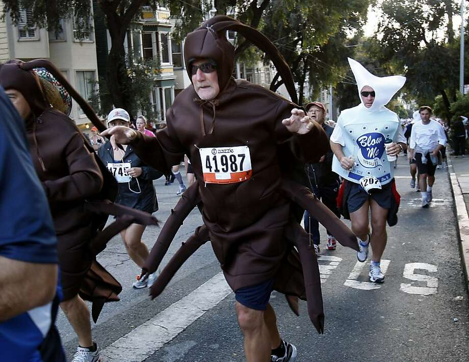The Bay to Breakers, noted for both zany and bad behavior, has lost Zazzle as its sponsor. Photo: Brant Ward, The Chronicle