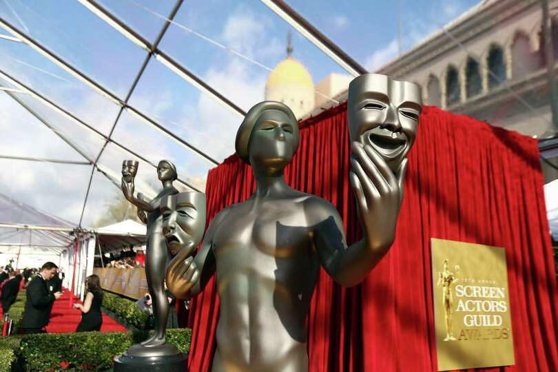 A statue is displayed at the 19th Annual Screen Actors Guild Awards at the Shrine Auditorium in Los