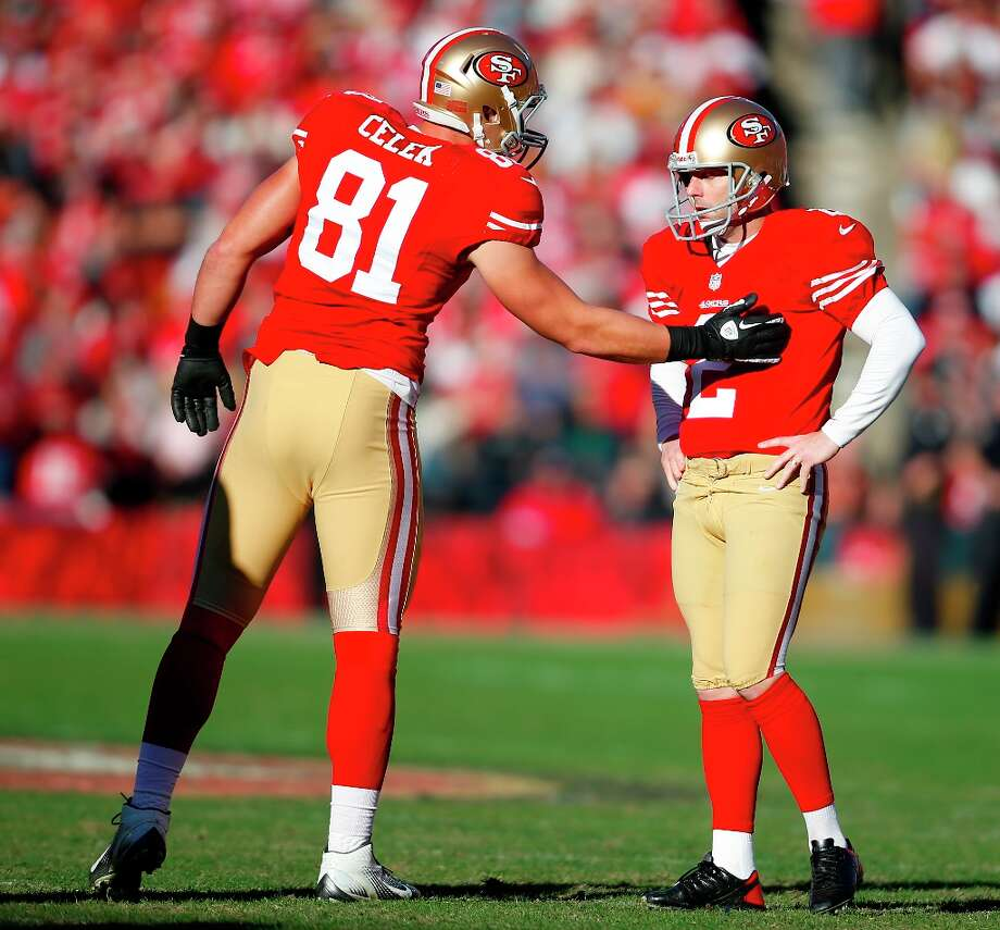 9. Sunday, Dec. 30, 2012: Kicker David Akers misses two field goal attempts, guaranteeing him a 31st finish in field-goal accuracy. Photo: Stephen Lam, Special To The Chronicle / ONLINE_YES