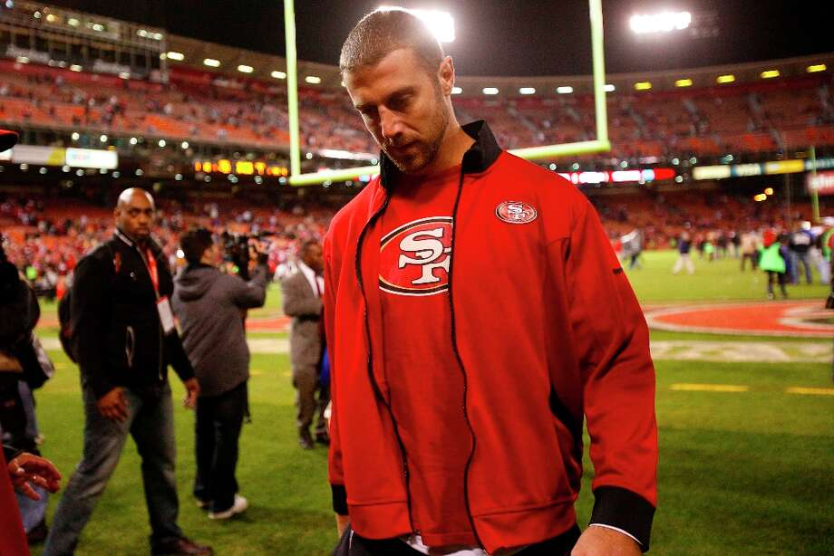 2. Saturday, November 17, 2012: Alex Smith, wisely, told doctors about his post-concussion symptoms and he was unexpectedly held out of the Monday Night Game against the Bears, opening the door for Kap. Photo: Stephen Lam, Special To The Chronicle / ONLINE_YES