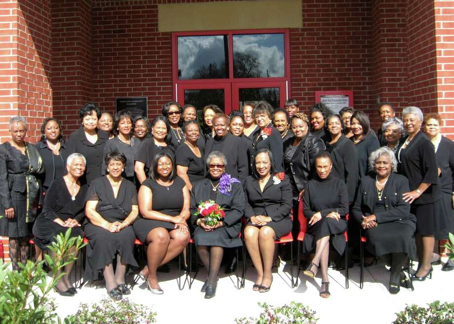 Members of the Beaumont Alumnae Chapter of Delta Sigma Theta Sorority at a luncheon Saturday in celebration of the national organization's 100th birthday, which fell on Jan. 13. The Beaumont chapter was founded in 1942. Photo: Sarah Moore