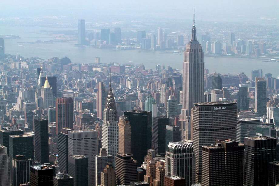 A new study says heat generated by cities like NYC changes high-altitude currents that effect weather. Photo: Mary Altaffer, STF / AP