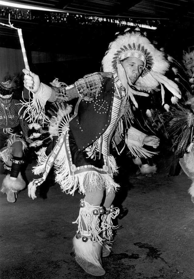 Performers demonstrate Native American dancing at the San Antonio Stock Show & Rodeo in this undated photo. Photo: San Antonio Express-News File Photo