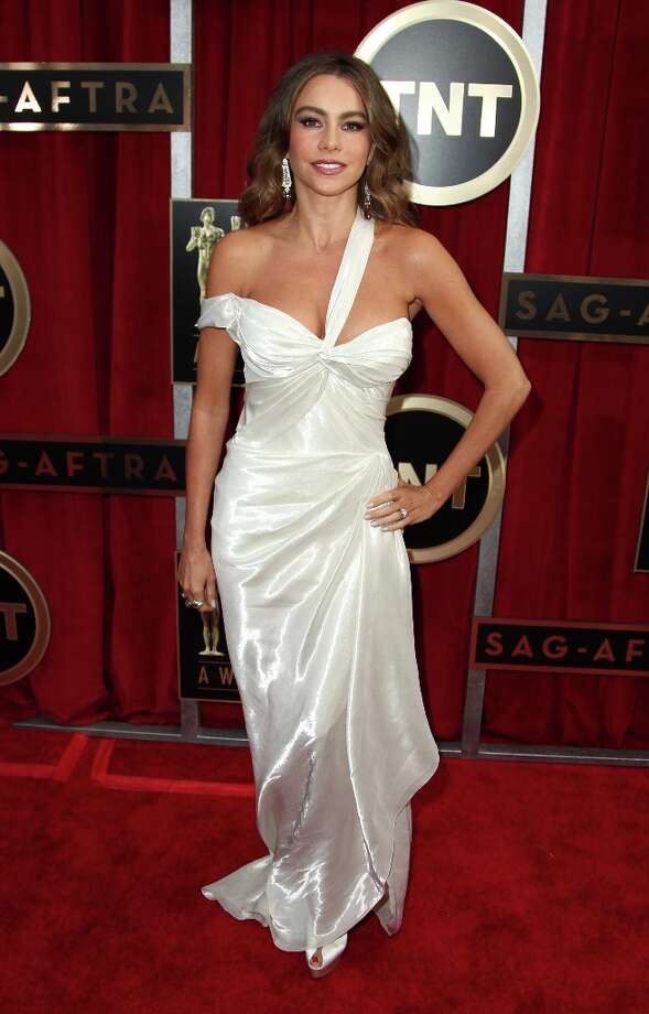 Actress Sofia Vergara arrives  at the 19th Annual Screen Actors Guild Awards at the Shrine Auditorium in Los Angeles on Sunday Jan. 27, 2013. (Photo by Matt Sayles/Invision/AP) Photo: Matt Sayles, Associated Press / Invision
